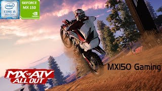 MX vs ATV All Out | GeForce MX150 | i5 8250u | Acer Aspire 5 | New Graphics Driver: 431.60