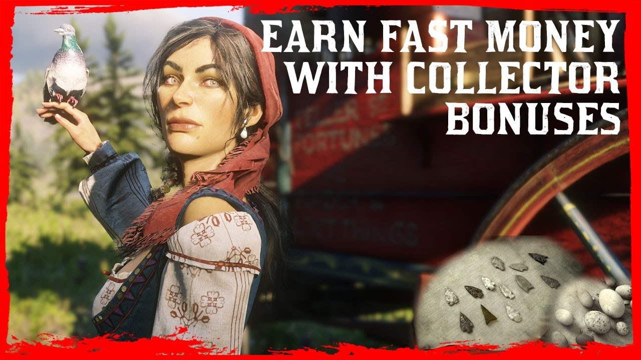Red Dead Online - Fastest Way to Earn Money with Collectible Bonuses - $700+ in less than 45 minutes