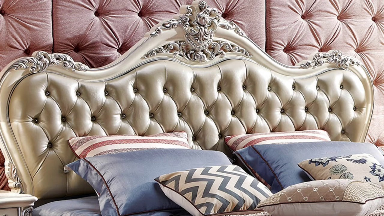 Procare luxury european and american style furniture royal seriels leather bed