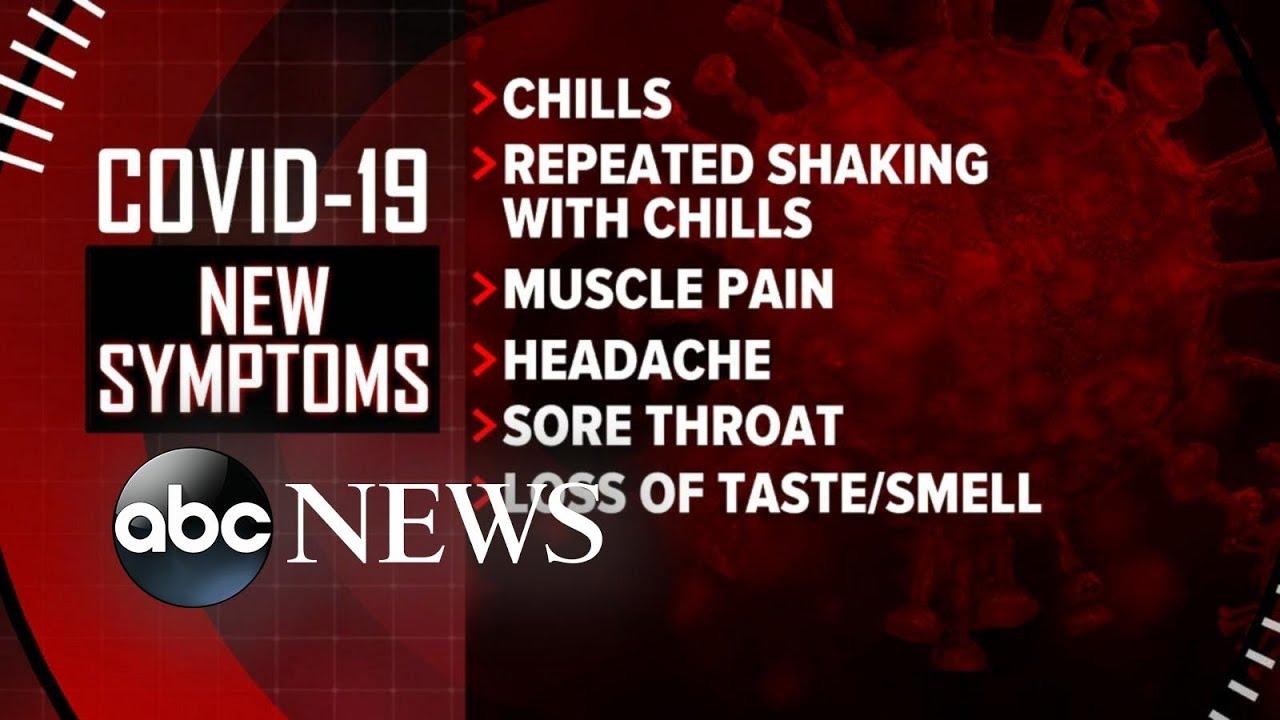 CDC updates its list of coronavirus symptoms l ABC News