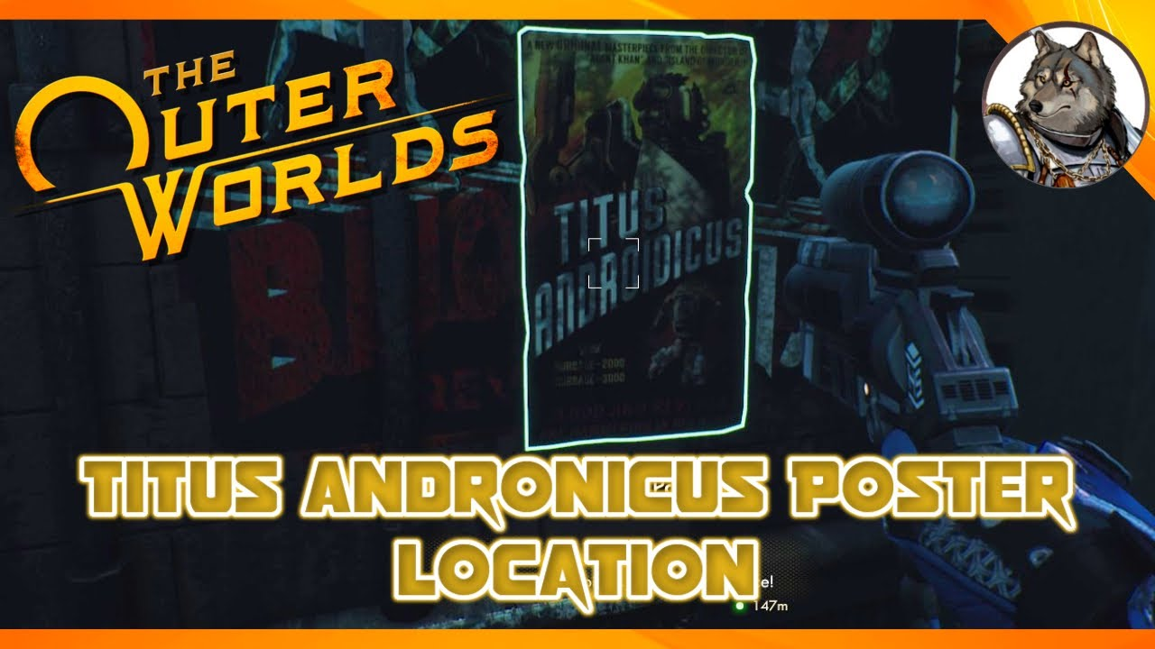 the outer worlds titus andronicus poster location ship decoration item