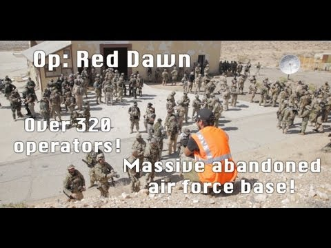 Massive Airsoft Battle - Boron: Red Dawn 04-20-13 300+ Players, 1080p
