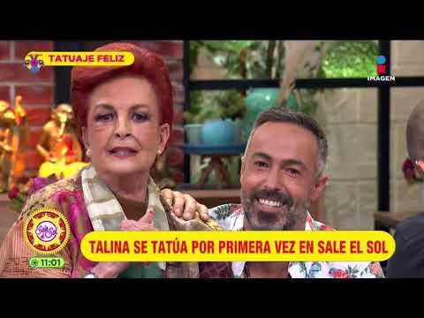 ¡Talina Fernández se tatúa en vivo por primera vez! | Sale el Sol