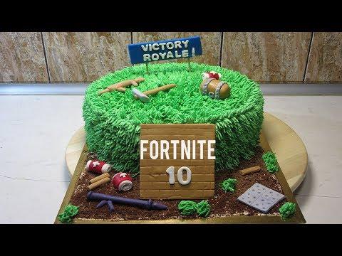 FORTNITE CAKE - HOW TO MAKE FORTNITE BIRTHDAY CAKE! STEP BY STEP