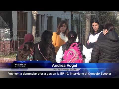 Andrea Vogel  Vuelven a denunciar olor a gas en la EP 10