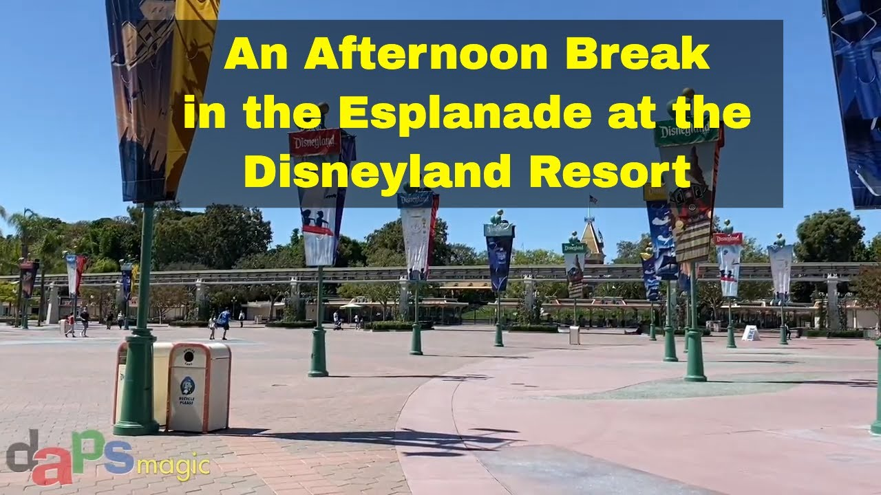 An Afternoon Break in the Esplanade at the Disneyland Resort