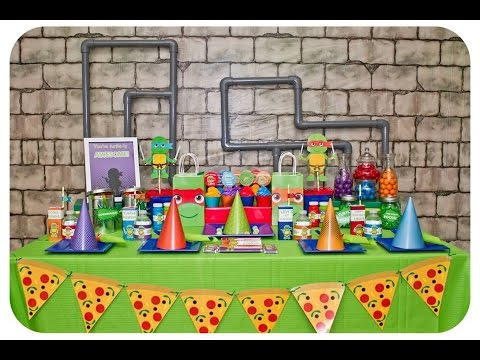 TMNT Party via Little Wish Parties childrens party blog
