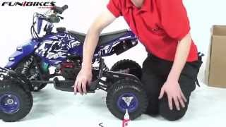 Children's Toys part2.FunBikes Mini 49cc Quad Bike Assembly Video (£119.99)