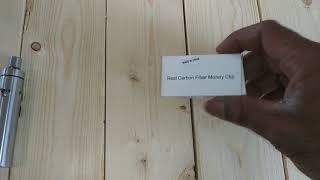 Carbon fiber money clip unboxing and review