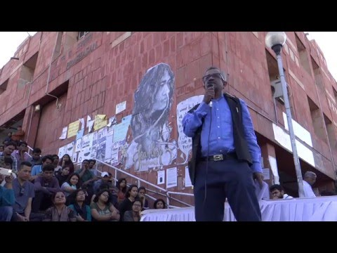 Sanjay Hegde speaks on  'Azadi: Is  it in our Constitution ?' at Freedom Square Jnu on 22.03.2016