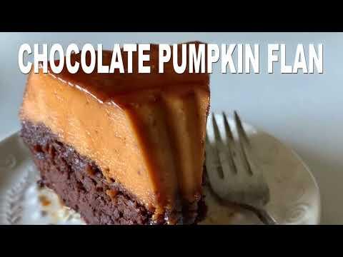 Pumpkin Flan (Chocoflan)