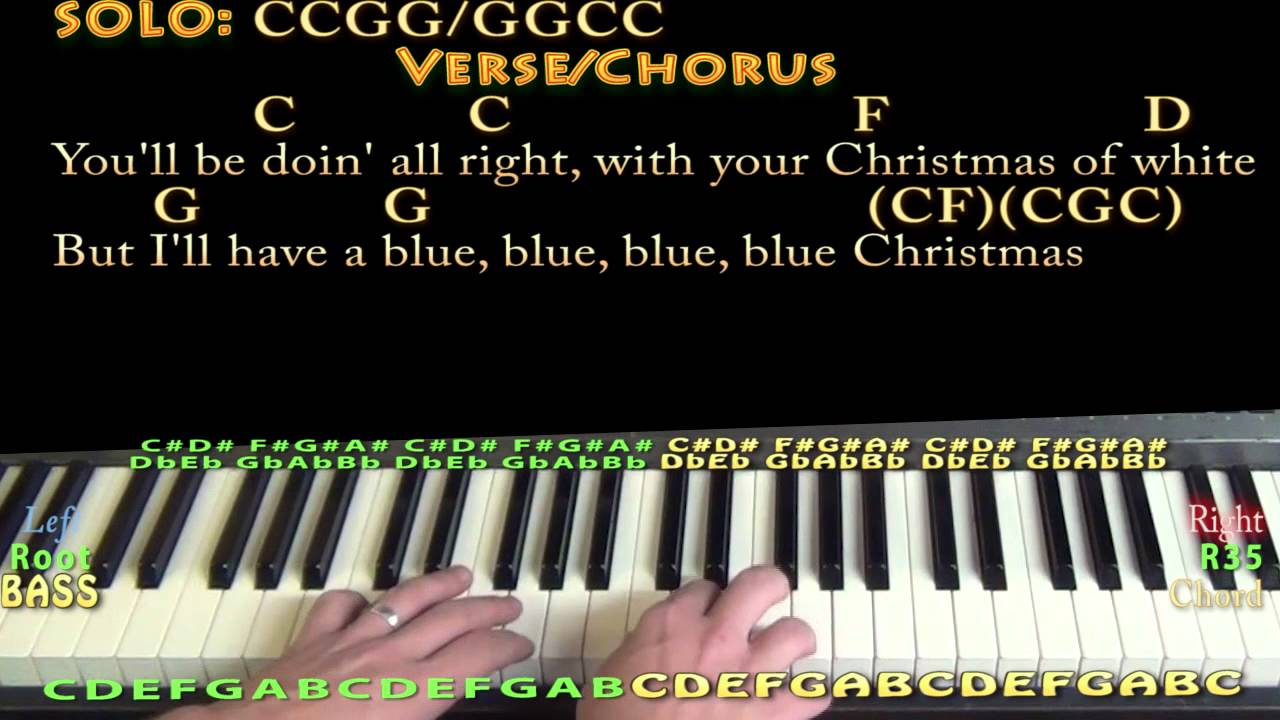 blue christmas piano cover lesson in c with chordslyrics - Blue Christmas Chords