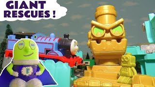 Thomas and Friends Robot Rescue with the funny Funlings and Superhero Super Funling TT4U