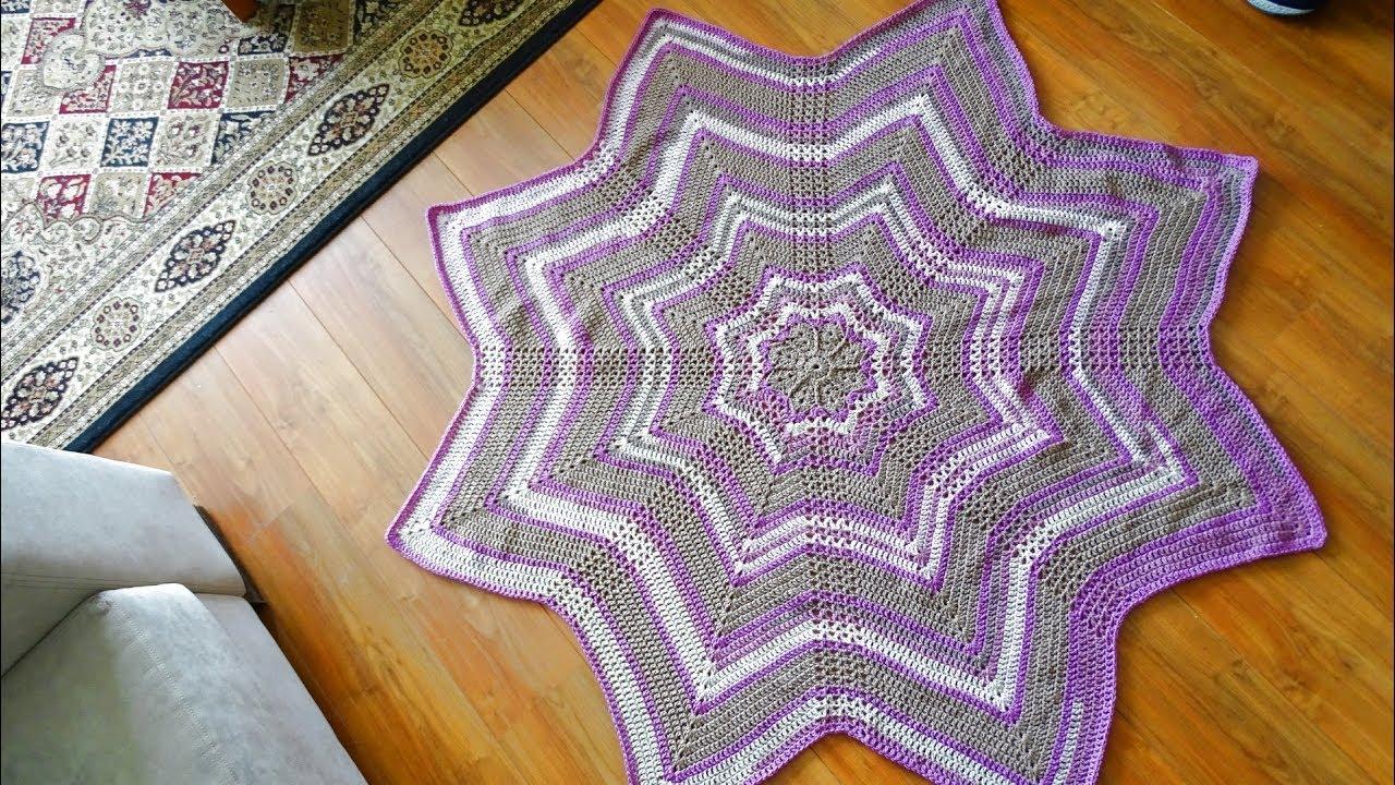 8 point Star Crochet Afghan Pattern PDF