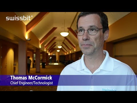 Swissbit Technologist Thomas McCormick interviewed during FMS  2017