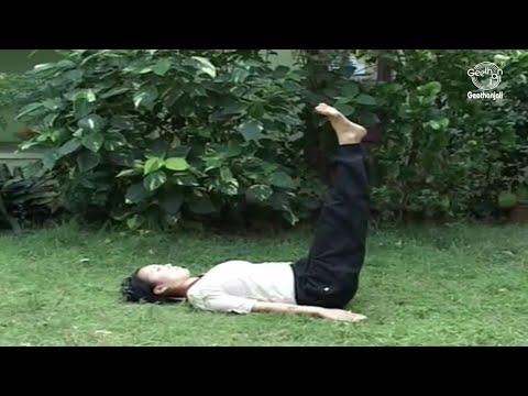 Yoga Exercise for Beginners - Sarvanga Asana (Shoulder Stand Pose) - Improves Blood Circulation