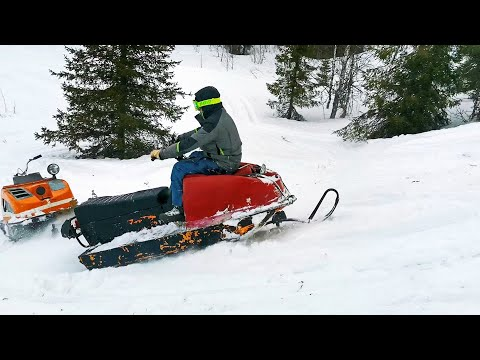 Снегоход Буран-закопай его полностью.дер.Вижас НАО.Snowmobile Buran.