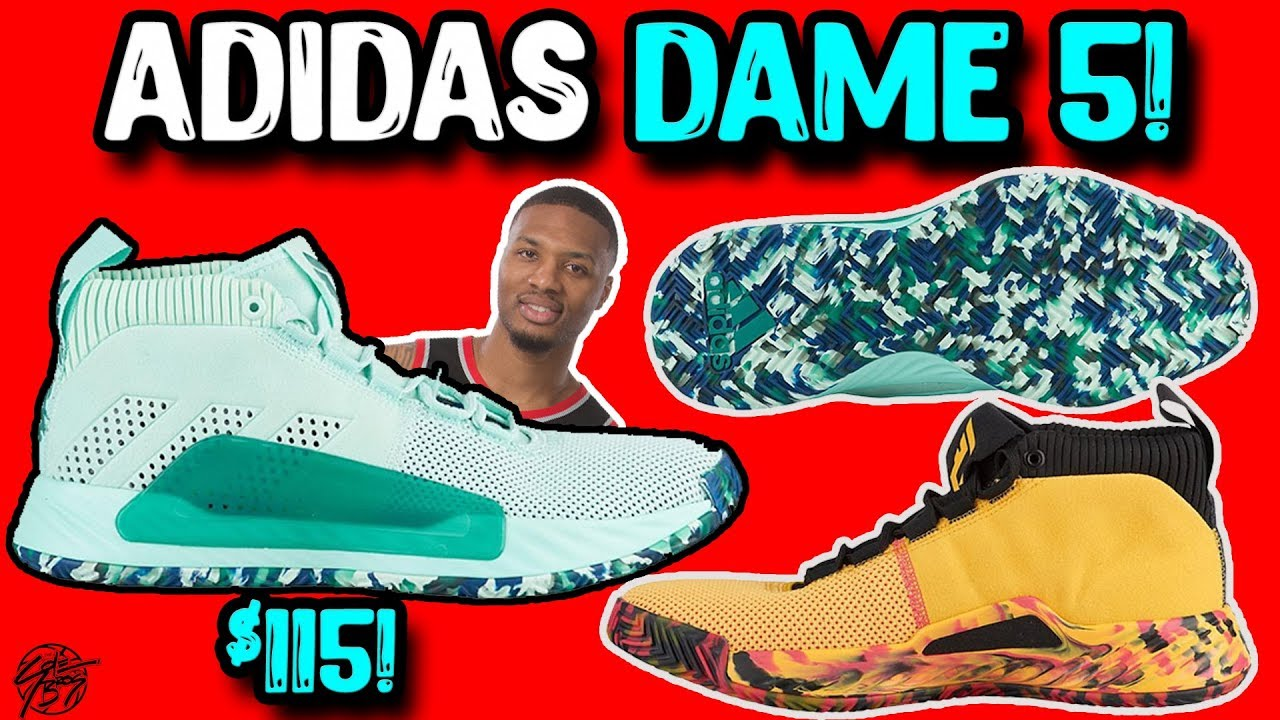 size 40 807c6 0caba Adidas Dame 5 (Damian Lillard) Official Images + Release Date  Tech Specs!