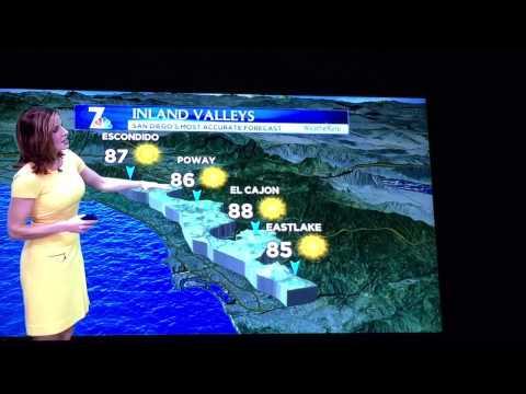 San Diego Weather Report 2/12/15 7/39 NBC 11pm news