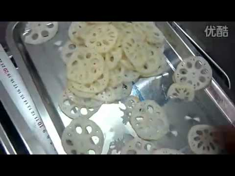 lotus root/Nelumbo nucifera Gaertn/Lotosfrucht slicer/ slicing machine/chipper