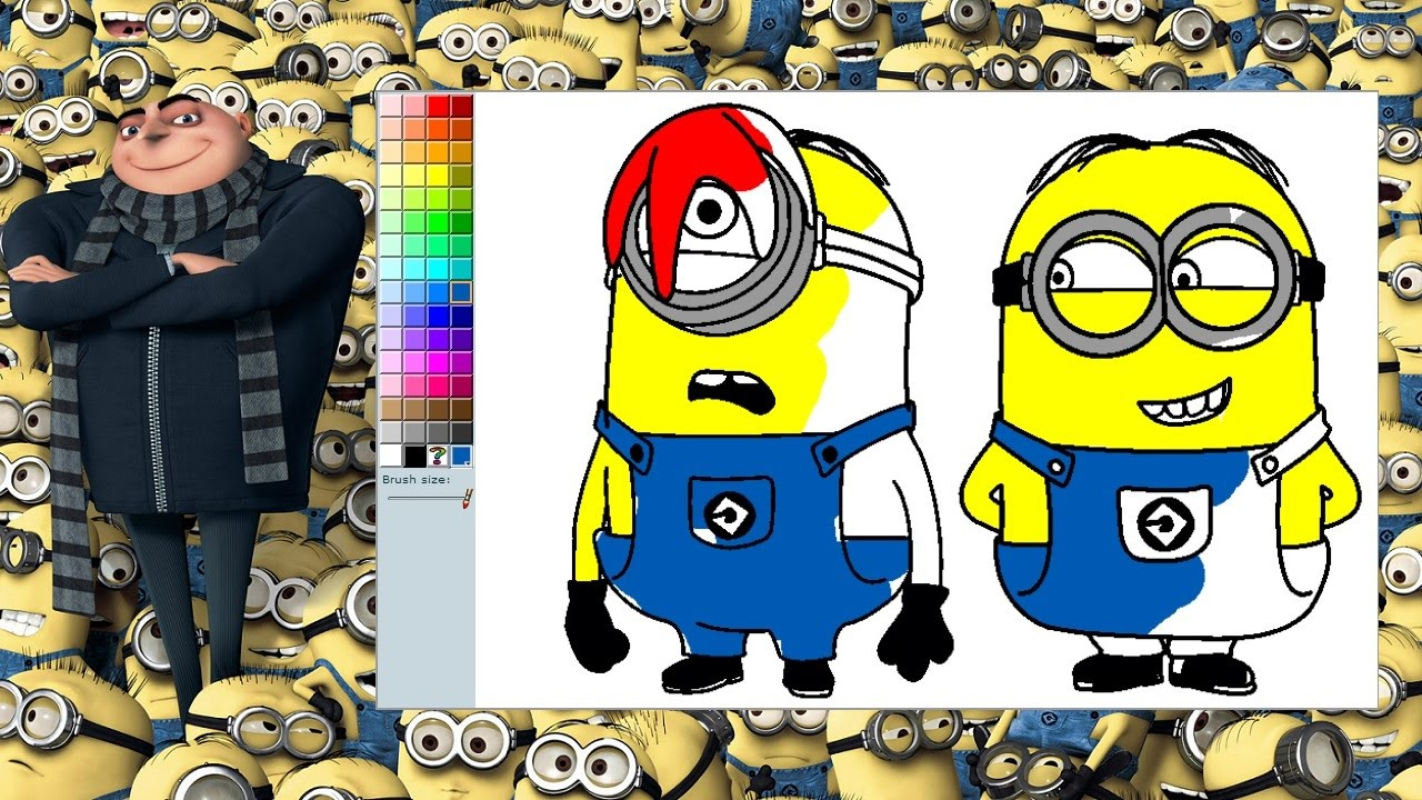 Despicable Me Minions Coloring Pages Minions Coloring Game YouTube