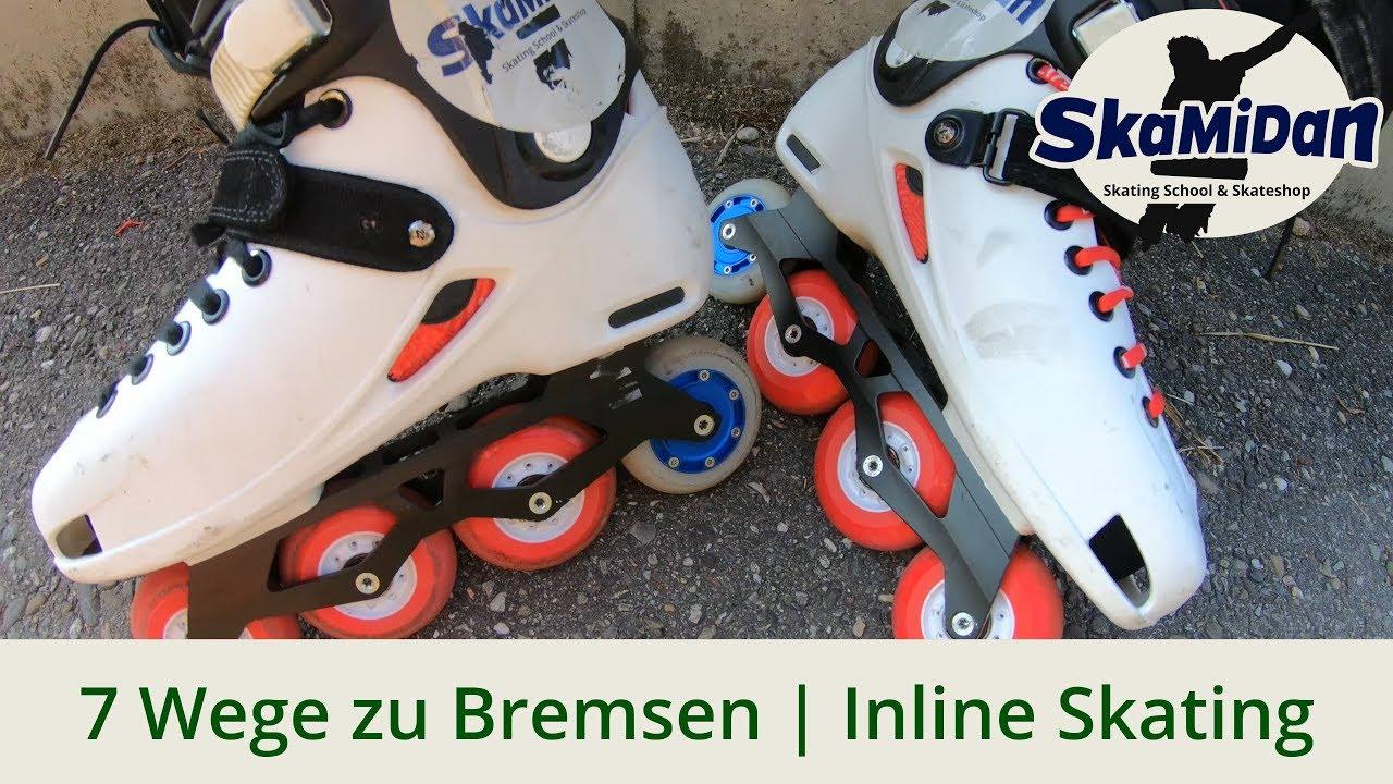 6bd762f8252 Skates: Endlich bremsen lernen // How To Brake And Stop - 7 Ways - Fitness  Inline Basics #02