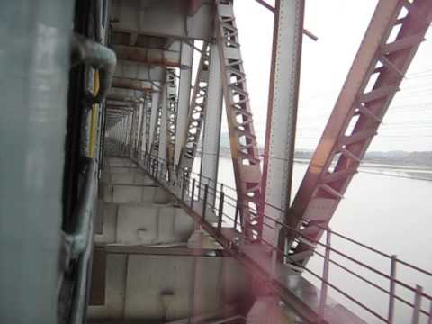 Saraighat Express crossing NARANARAYAN SETU over River ...  Saraighat Expre...