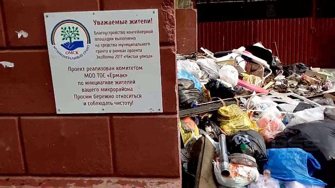Мусорное «королевство» в Нефтяниках, Омск