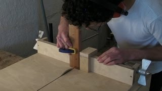Homemade Table Saw Sledge - Part 3 - Lead Screw, Fence Stop & Finger / Comb Joints Jig