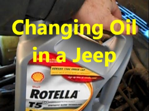 How To Change Your Oil Jeep Cherokee Youtube