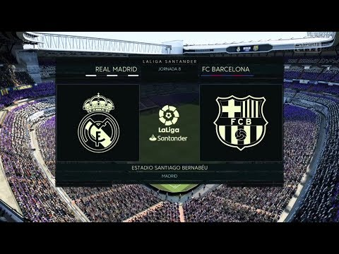 REAL MADRID - FC BARCELONA (FIFA 19) (REALISTIC SLIDERS AND CAMERA)