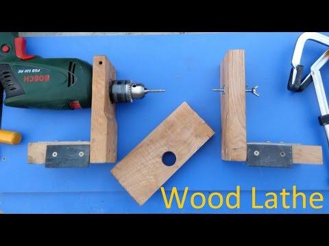 Как сделать токарный станок по дереву, очень быстро. Build a Wood Lathe (very fast).