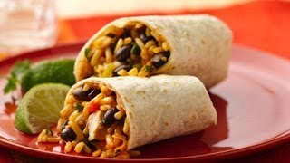 How To Make Chicken And Black Bean Burritos