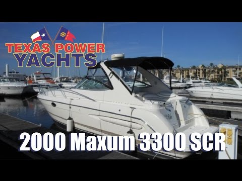 2000 Maxum 3300 SCR express cruiser for sale at Texas Power Yachts