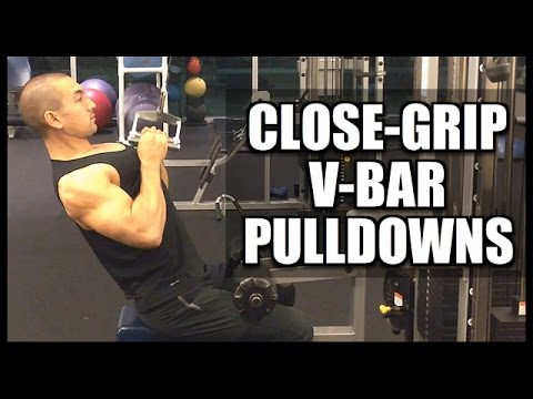 "The ""Close Grip V-Bar Pulldown"" For Wider Lats"
