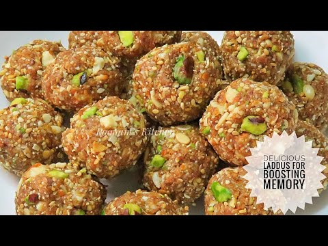 Delicious Laddu For Boosting Memory - Mix Dry Fruits Laddu Recipe - How To Make Laddu