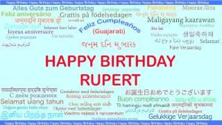 Rupert   Languages Idiomas - Happy Birthday