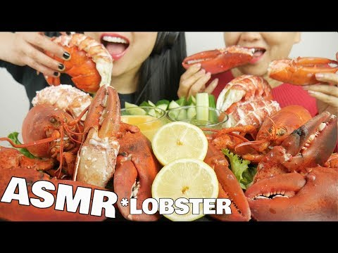 ASMR LOBSTER FEAST (EATING SOUNDS) NO TALKING | SAS-ASMR