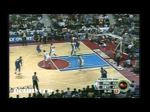 Allen Iverson Full Highlights vs. the Pistons - 2003 NBA Playoff Game 5