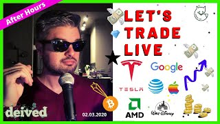 TESLA Explodes + Stock Market Recovers + Spce Google, AMD & Disney