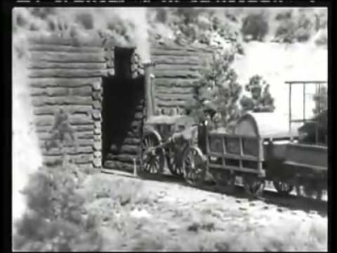 Alte Eisenbahn Stummfilm