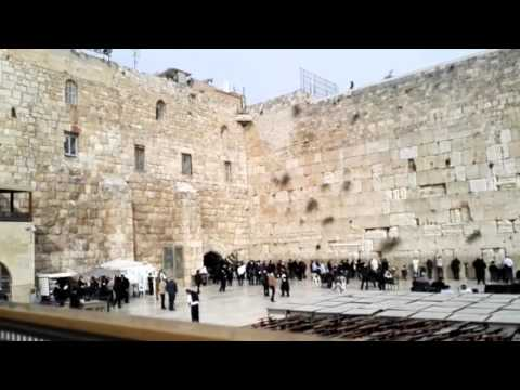 The Western Wall, Jerusalem - a Jewish holy place. Close to the Jewish Temple