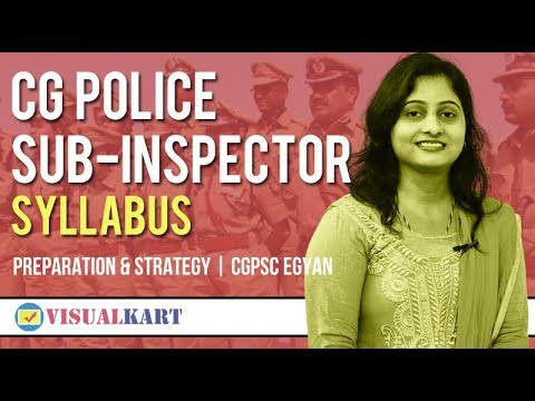 CG Police Sub Inspector Syllabus | Preparation and strategy | Cgpscegyan