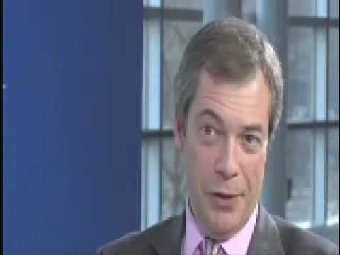 UKIP Nigel Farage - Talking about Ind/Dem Group,  Free Trade is not Free Labour movement Feb 2009