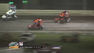 Knoxville Raceway 410 Highlights 7/1/17