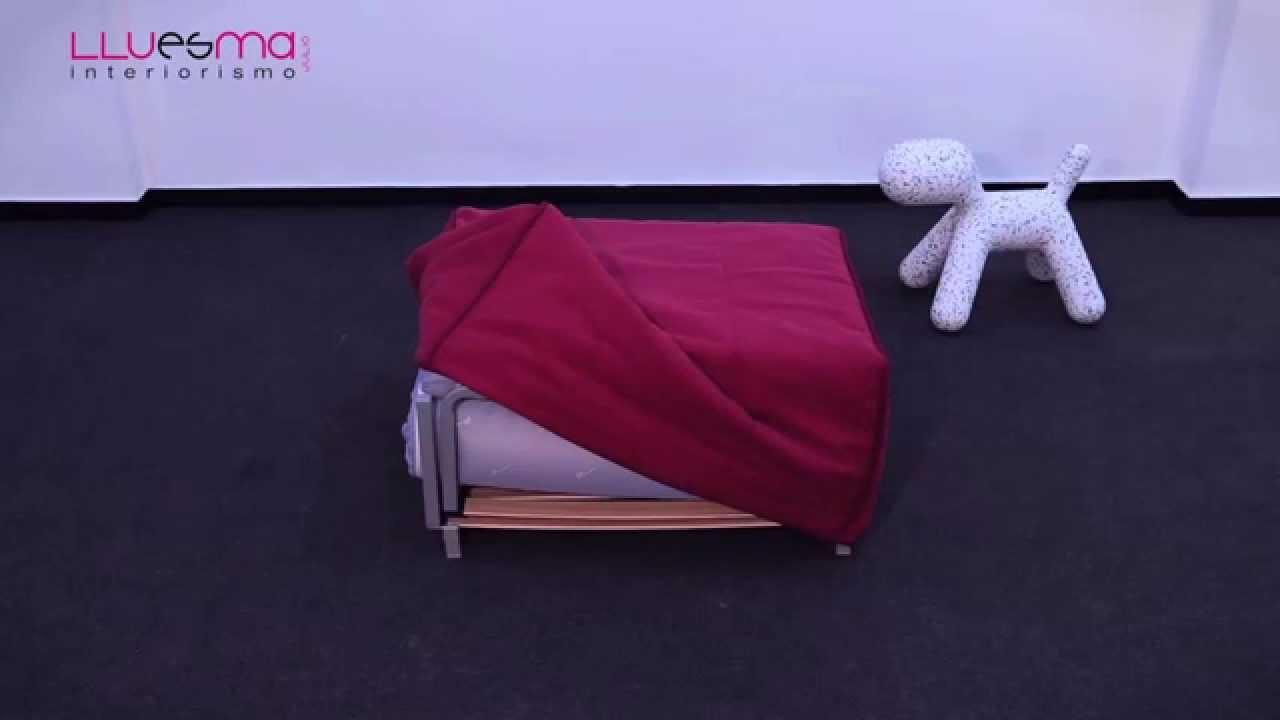Puff cama plegable con somier convertible en cama de calidad youtube - Puff convertible cama ...