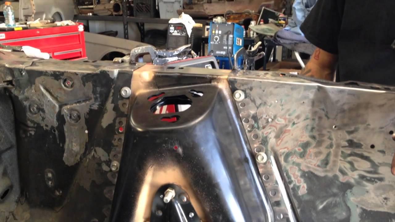 Welding Driver Side Shock Tower On Alex S 1969 Mach 1