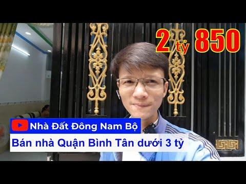 Video nhà bán quận Bình Tân dưới 3 tỷ. Nhà đẹp 1 lầu Sổ hồng riêng