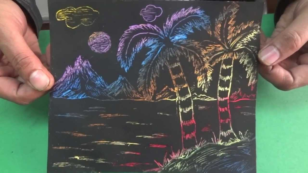 Colourful Scratch Art Book 5 Page 11 Youtube
