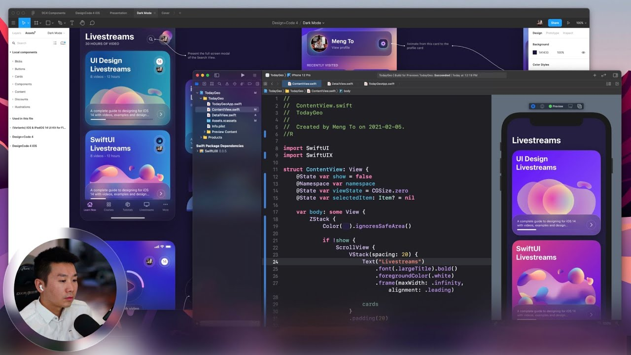 SwiftUI Livestream: Prototyping UI and Animations
